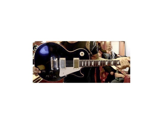 1959 Gibson Les Paul Replica Black Over Flame Top Series