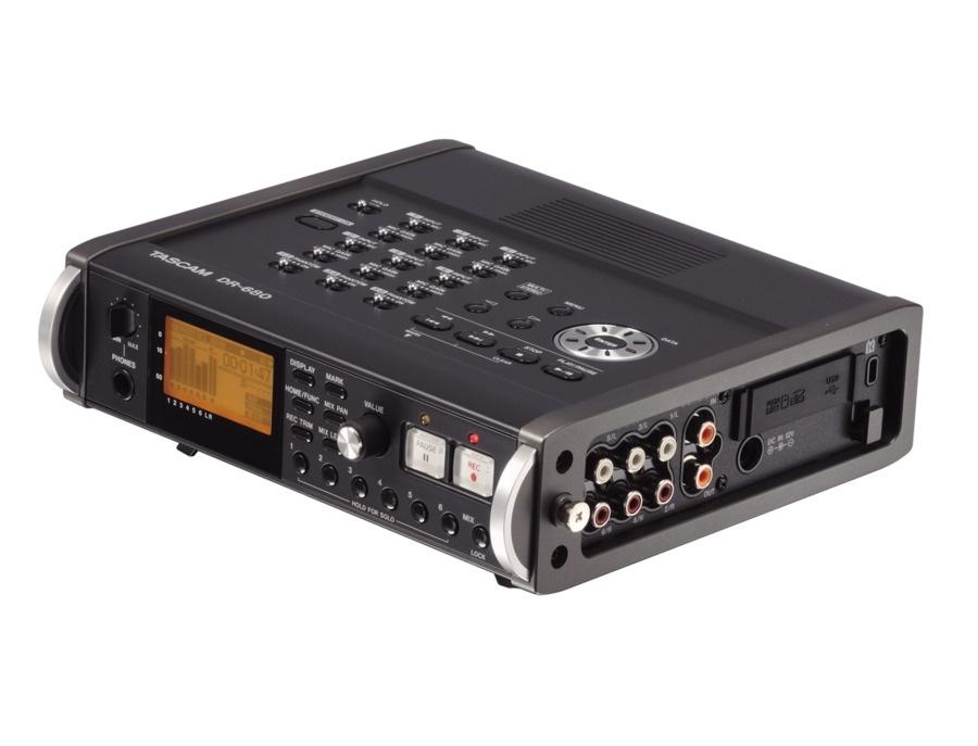 Tascam dr680 8 track portable digital field audio recorder xl