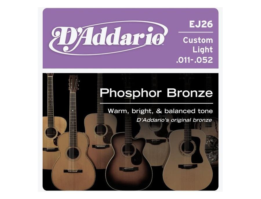 D'Addario EJ26 Phosphor Bronze, Custom Light, 11-52