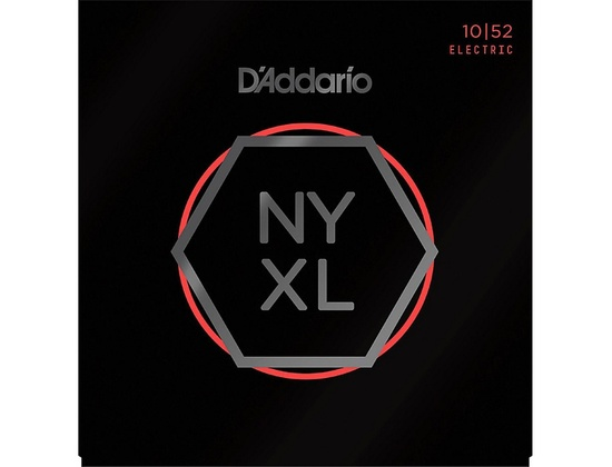 D'Addario NYXL Nickel Wound Light Top/Heavy Bottom Electric Guitar Strings (10-52)