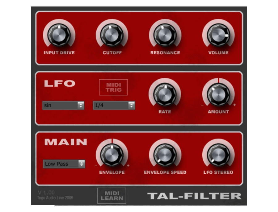 TAL-Togu Audio Line TAL-FIlter