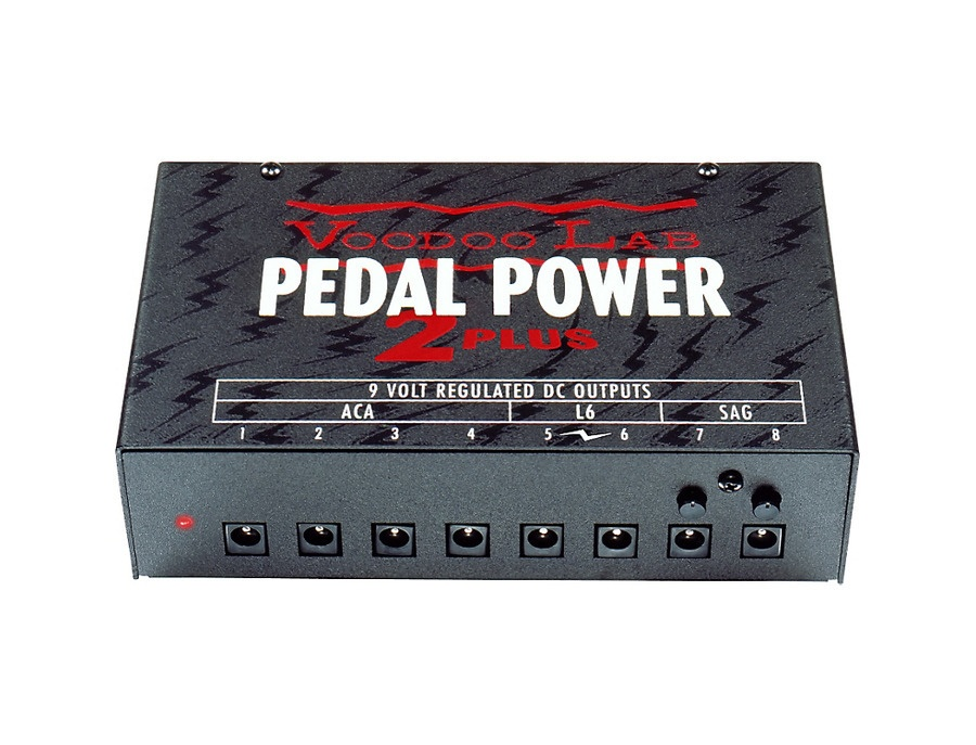 Voodoo lab pedal power 2 plus 8 output isolated guitar pedal power supply xl