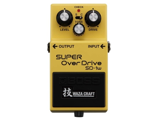 BOSS SD-1W Super OverDrive Waza Craft Pedal