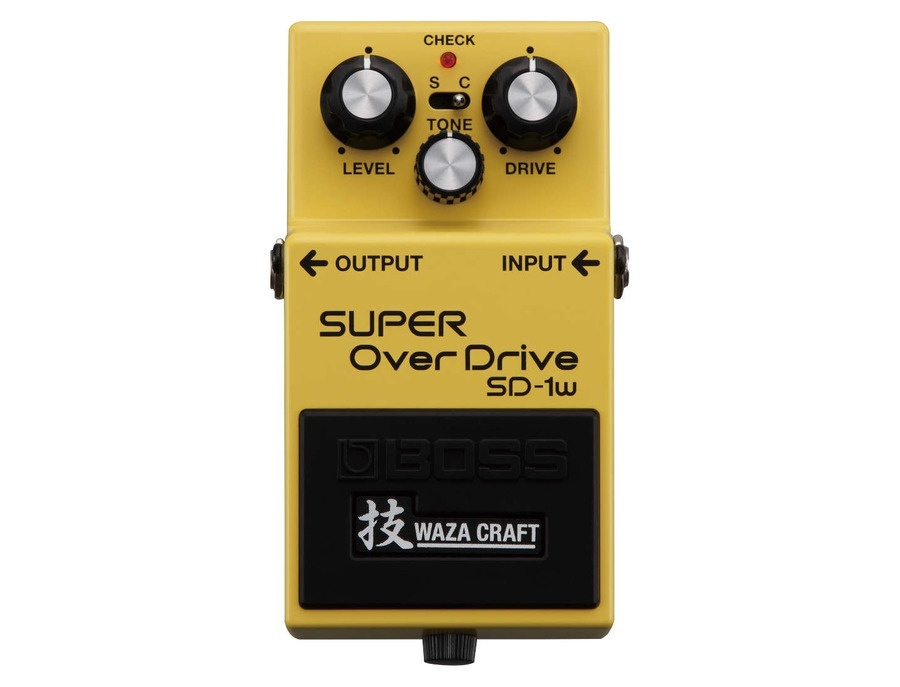 Boss sd 1w super overdrive waza craft pedal xl