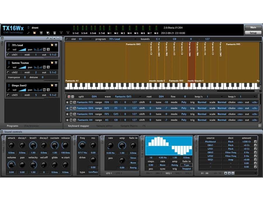 Cwitec tx16wx software sampler plugin xl