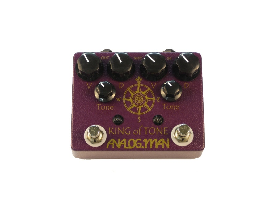 Analog man king of tone overdrive guitar effect pedal xl