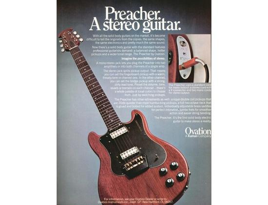 Ovation Preacher Stereo Solidbody Guitar