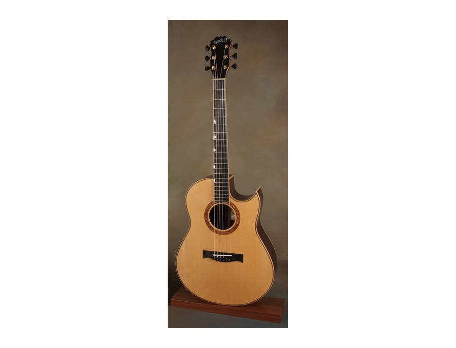 bischoff bon iver 39 s custom acoustic guitar reviews prices equipboard. Black Bedroom Furniture Sets. Home Design Ideas