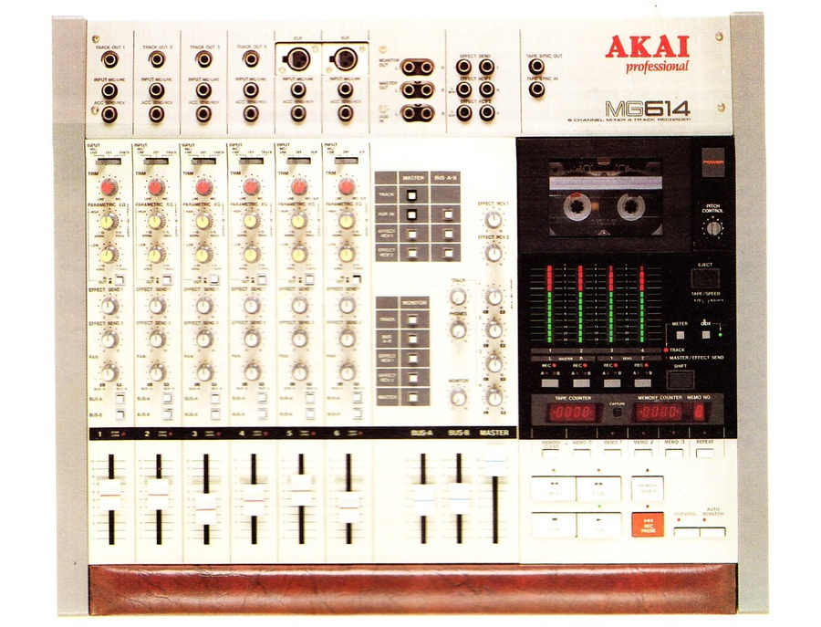 Akai mg 614 mixer 4 track recorder xl
