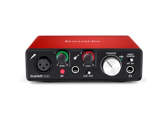 how to make focusrite scarlett solo play on both channels