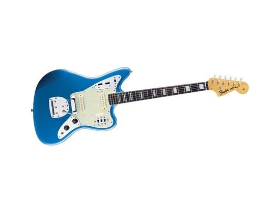 Fender Jaguar Electric Guitar Blue with Tortoise Shell Pickguard