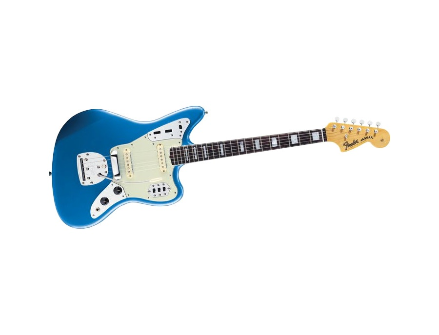 Fender Jaguar Electric Guitar Blue with Tortoise Shell Pickguard