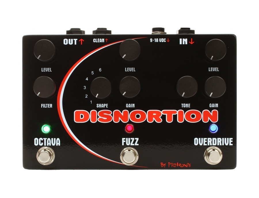 Pigtronix Disnortion Analog Octave/Fuzz/Overdrive Pedal