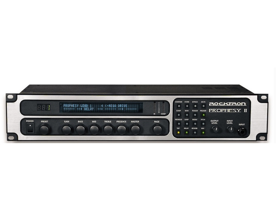 Rocktron prophesy ii 4 channel rackmount guitar preamp and effects processor xl