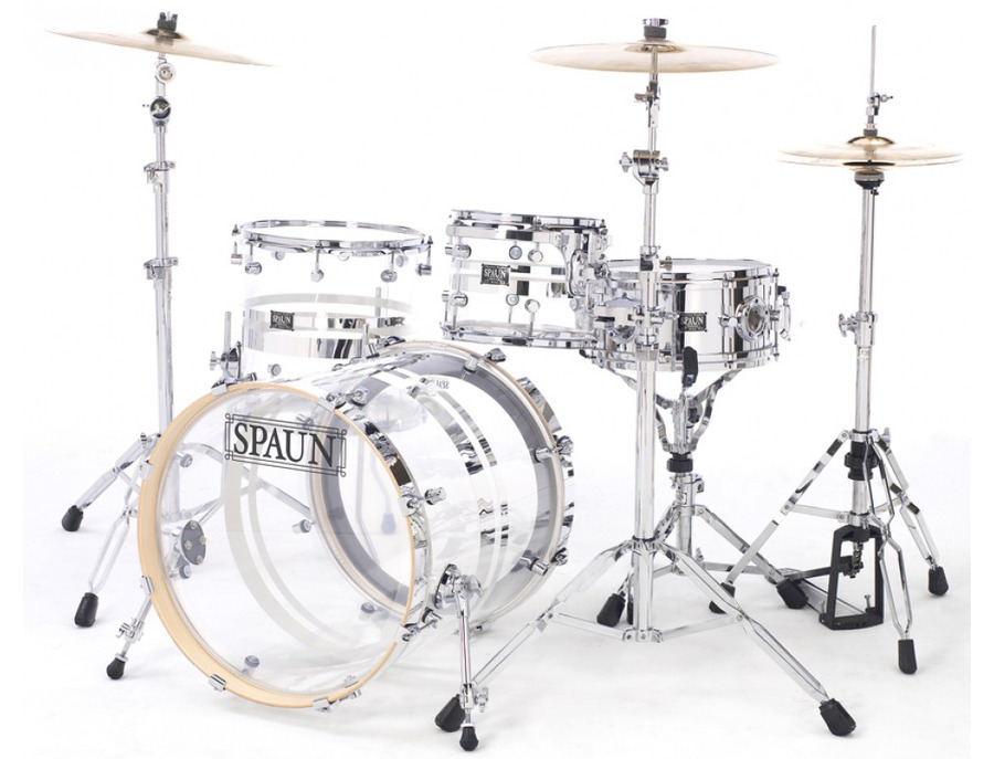 spaun acrylic series drum set reviews prices equipboard. Black Bedroom Furniture Sets. Home Design Ideas
