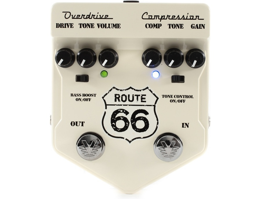 Visual sound v2 series v2rt66 route 66 overdrive and compression guitar pedal xl