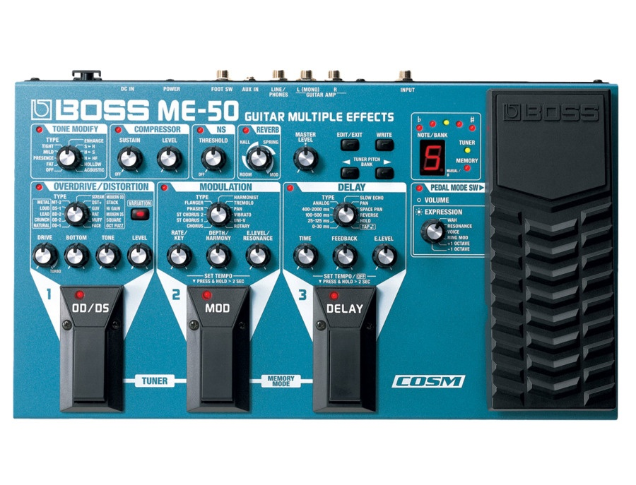 Boss me 50 guitar multi effects pedal xl