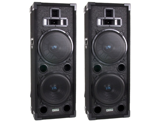 "VM Audio VAS4210P 2200 Watt 4-Way Dual 10"" DJ Loud Speakers System"