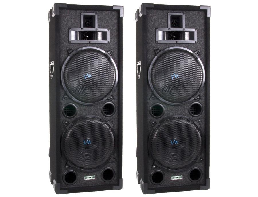 Vm audio vas4210p 2200 watt 4 way dual 10 dj loud speakers system xl