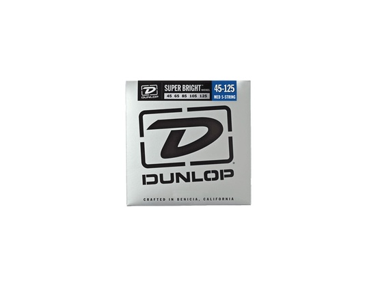 Dunlop Super Bright Nickel Wound Bass Strings Medium 5