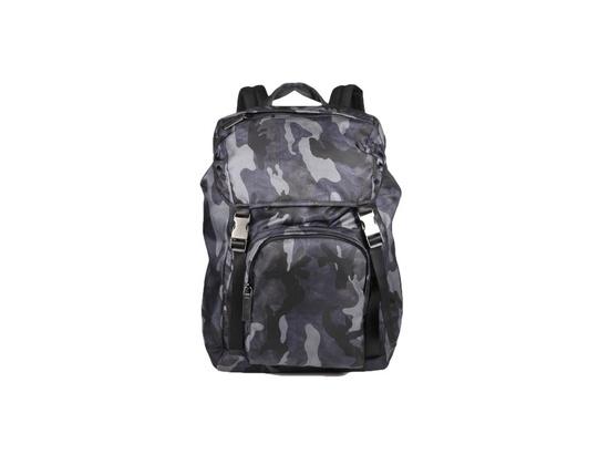 Prada Blue Camo Print Backpack