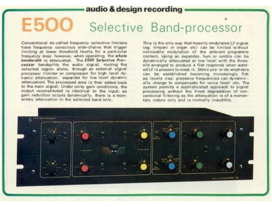 Audio & Design recording E-500