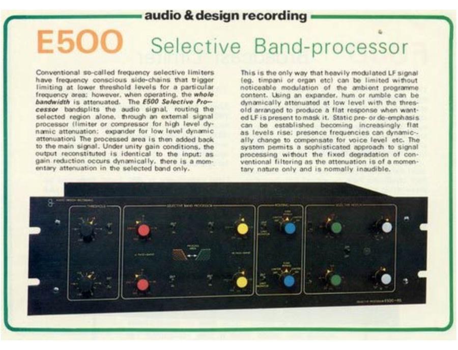 Audio & Design recording E-500