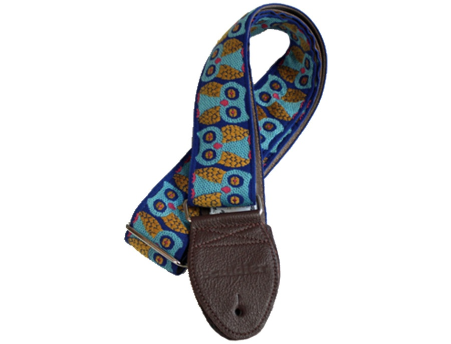 Souldier Vintage Guitar Strap- Owls blue/Gold