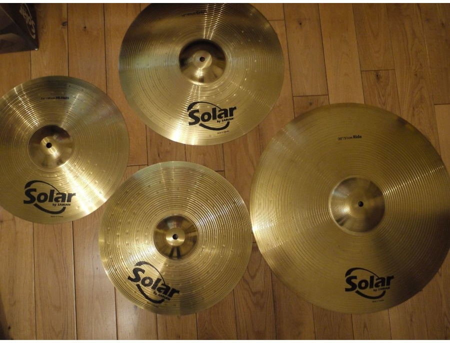 Solar by Sabian Performance Cymbal Pack