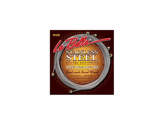 La Bella Strings M45 Stainless Steel Round Wound Standard – Light 45-105