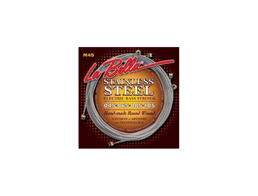 La Bella Strings M45 Stainless Steel Round Wound Standard – Light 45-105