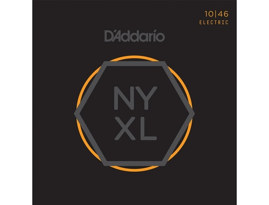 D'Addario NYXL Nickel Wound Light Electric Guitar Strings (10-46)