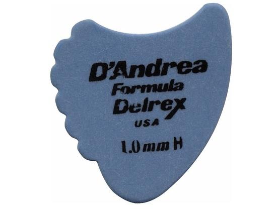 D'Andrea 390 Sharkfin Delrex Delrin Guitar Picks 1.0MM