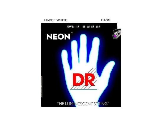 DR Strings Hi-Def NEON White Coated Medium 4-String Bass Strings