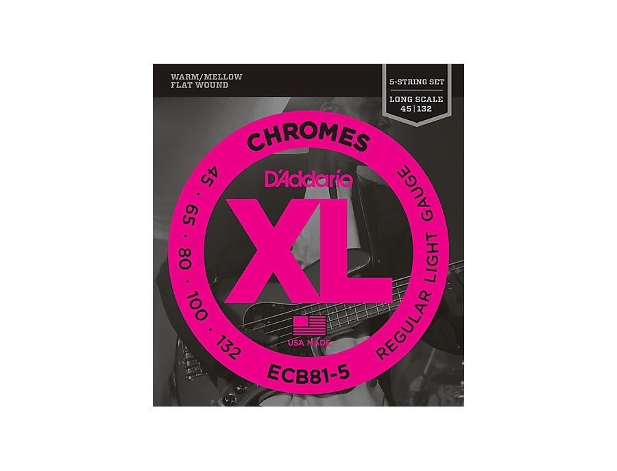 D'Addario ECB81-5 Chromes XL Flatwound Bass Strings - Light Gauge