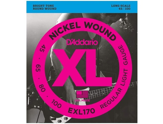 D'Addario EXL170 Nickel Round Wound Bass Strings