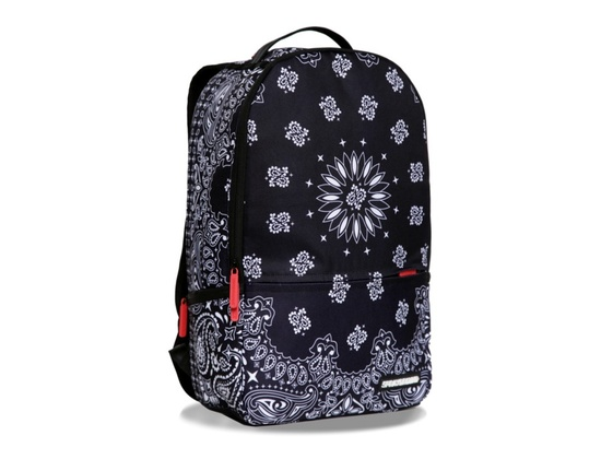Sprayground Bandana Black Deluxe Backpack
