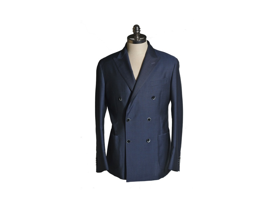 Luigi Bianchi Mantova Double Breasted Navy Blazer