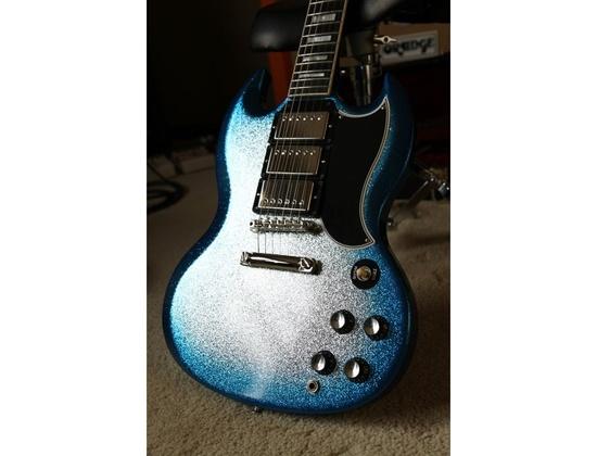 Gibson SG '61 Reissue Custom Historic Blue Sparkle