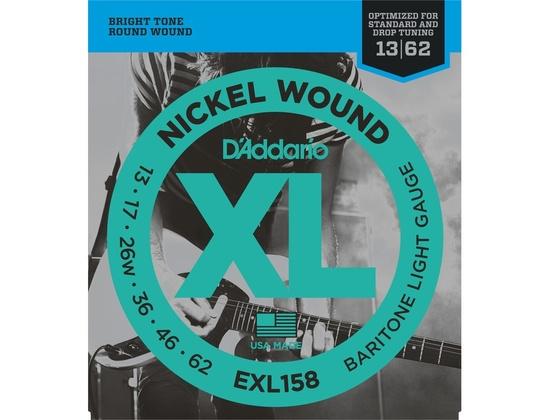 D'addario EXL158 Nickel Wound Light Baritone (.013-.062)