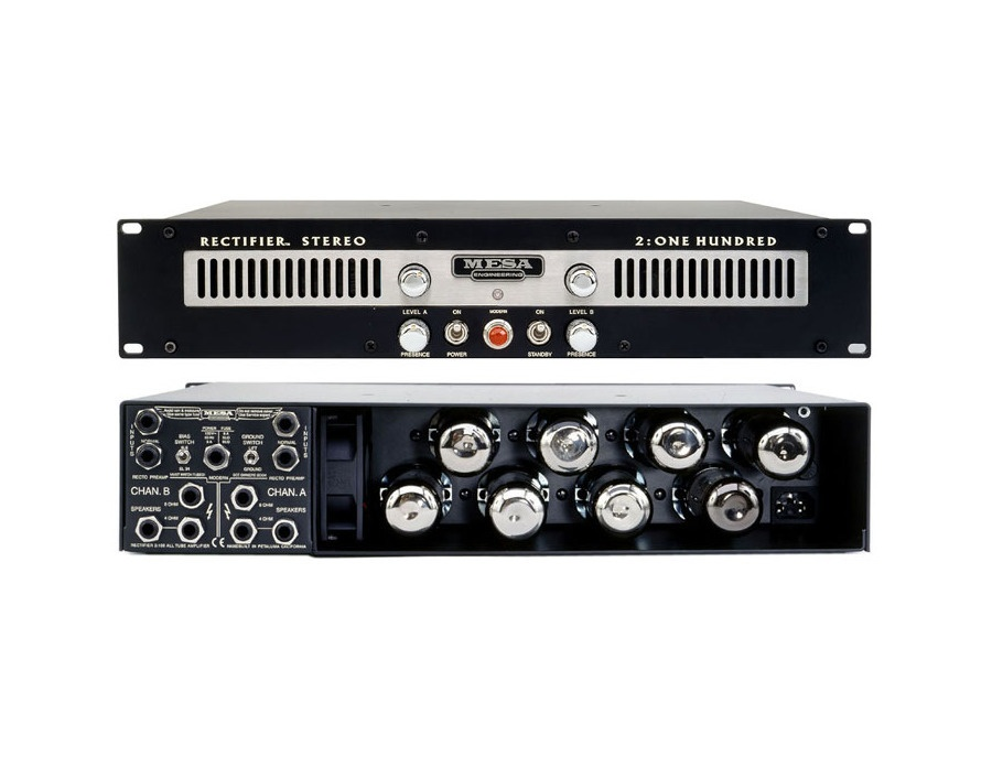 mesa boogie rectifier stereo 2 one hundred power amp reviews prices equipboard. Black Bedroom Furniture Sets. Home Design Ideas