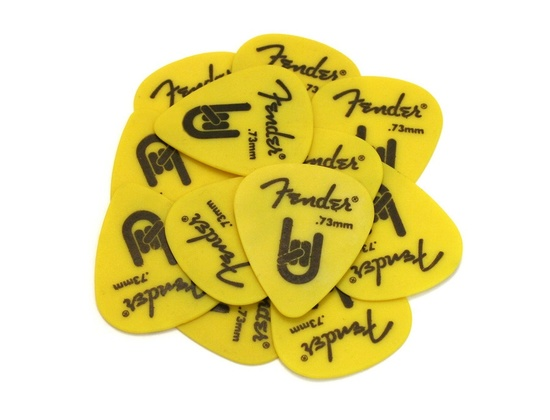 Fender Rock-on Touring Picks Yellow - Medium .73