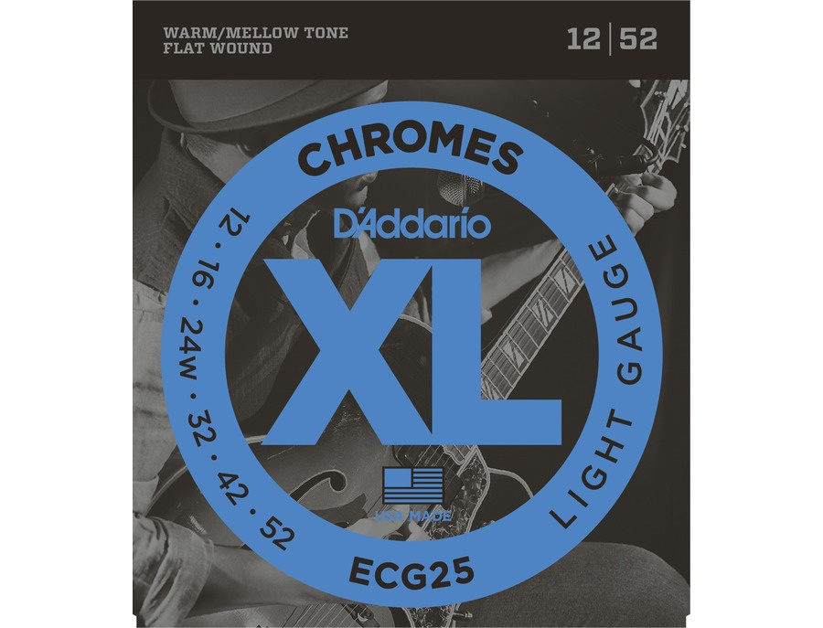 D'Addario ECG25 Chromes Flat Wound Strings