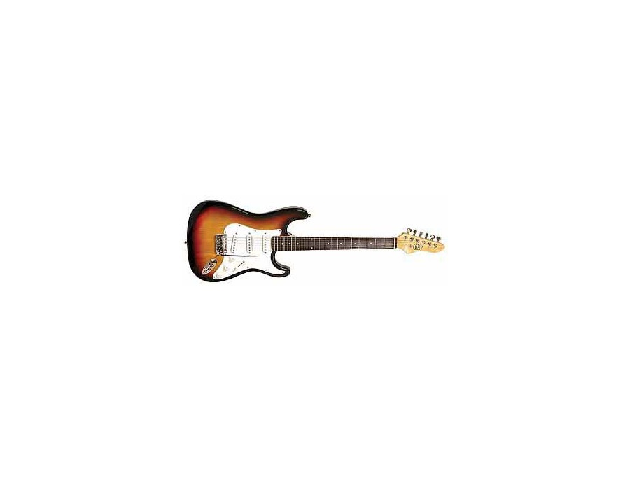 JB Player strat-style electric guitar Left-handed
