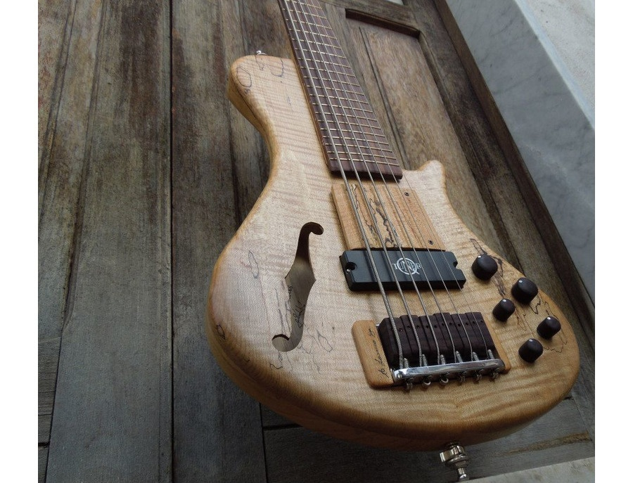 Cavus power ZEN-belcanto 6 string bass with neodymium Q-tuner q2.0 pickup. Luthier: Pasquale Lodato.