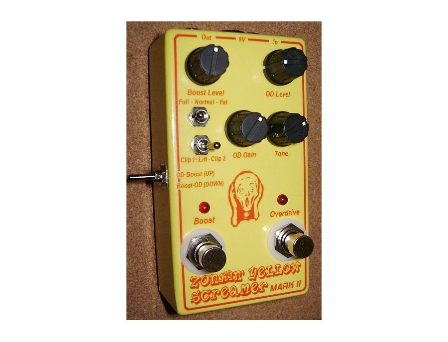 "Duh Voodoo Man's ""Zonkin' Yellow Screamer Mark II"" Overdrive/Boost Pedal"