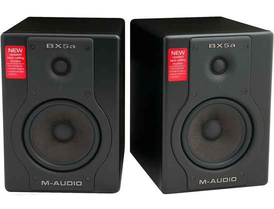 M-Audio BX5a Deluxe 70-watt Bi-amplified Studio Reference Monitors