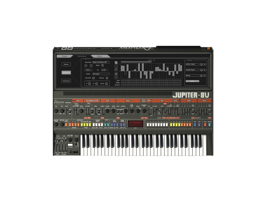 Arturia jupiter 8v software synthesizer xl