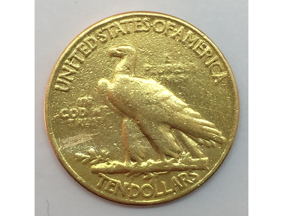 "1900s ""Indian Head"" US Gold Eagle Coin"