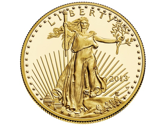 """Lady Liberty"" Gold Eagle Coin"